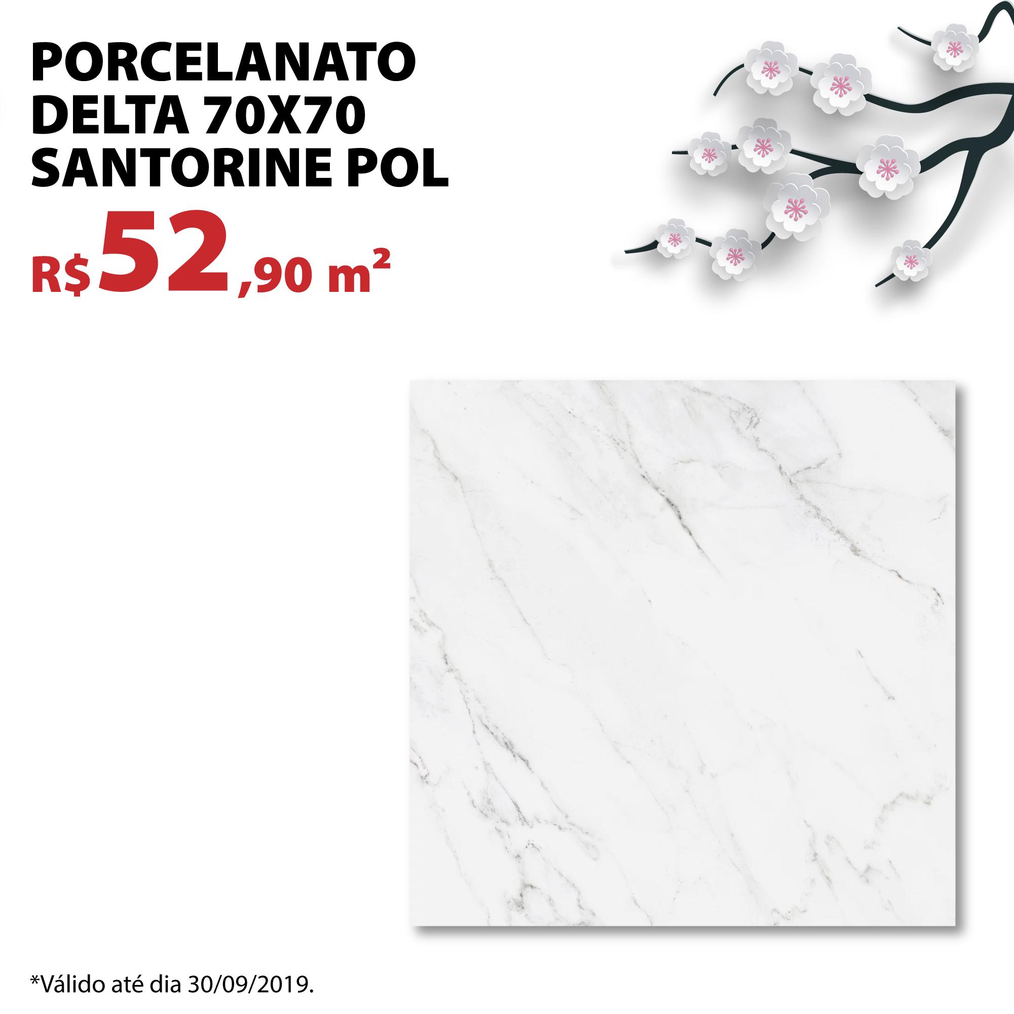 Porcelanato Delta 70×70 Santorine Pol