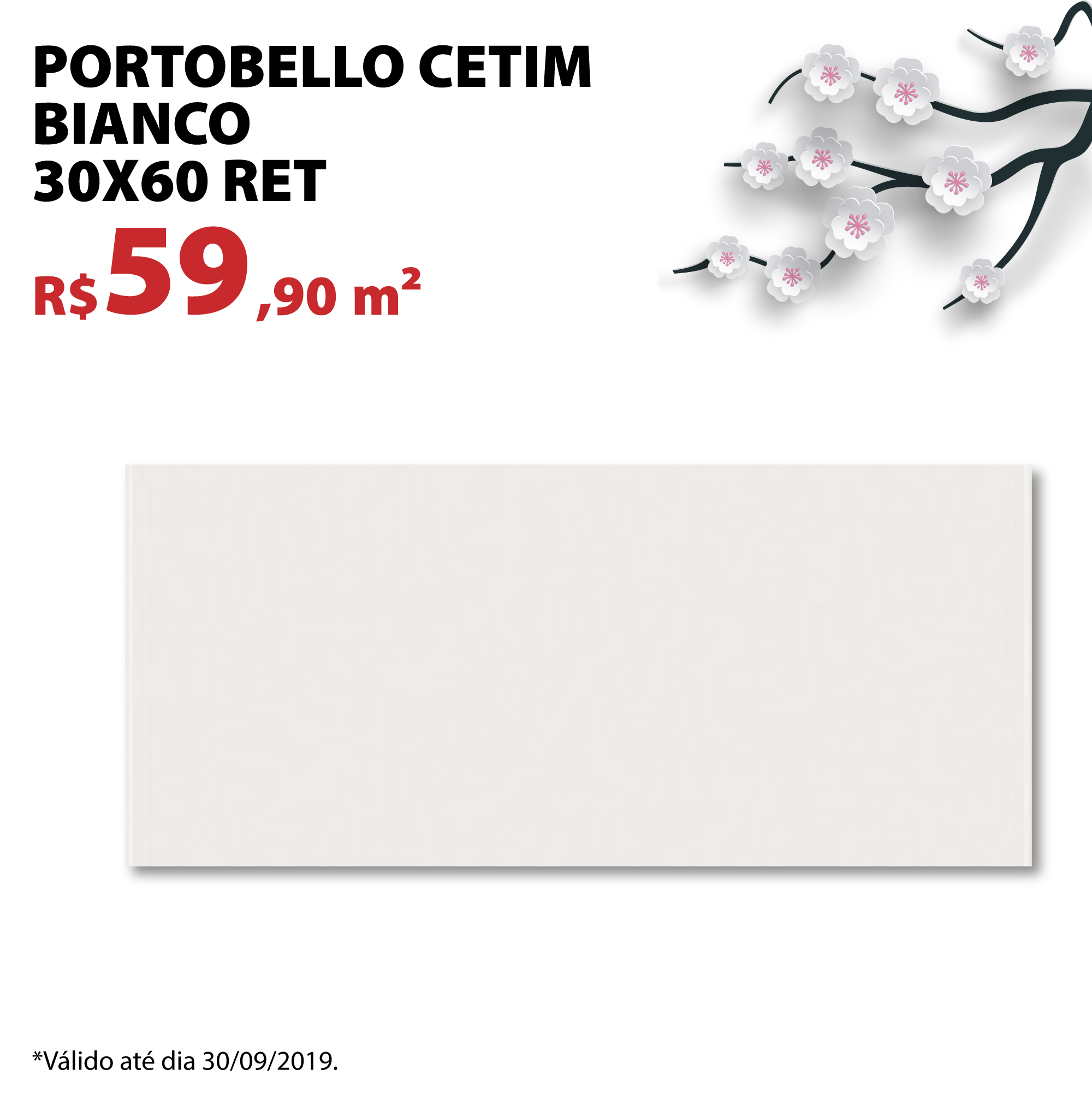 Portobello Cetim Biano 30×60 Ret