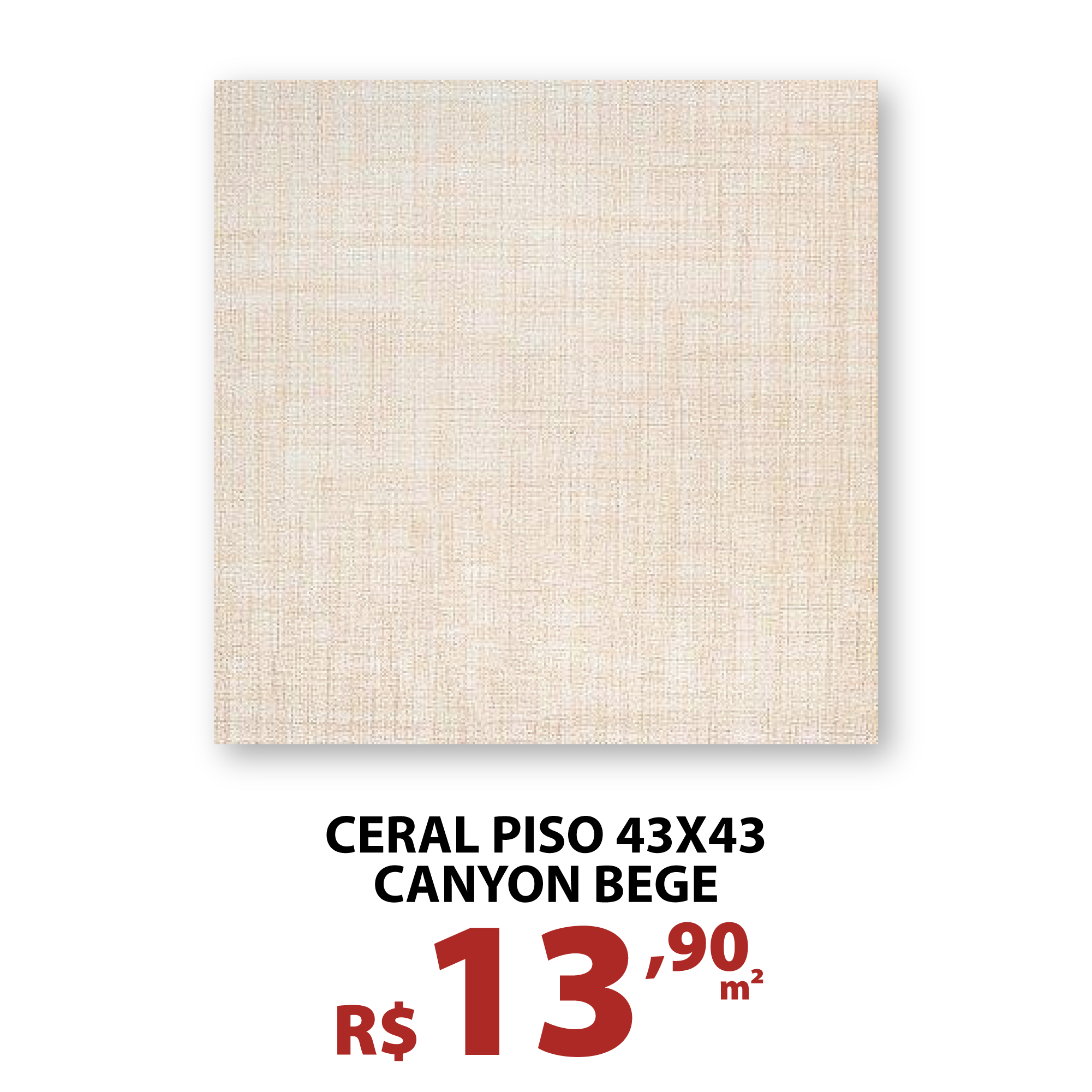 CERAL PISO 43X43 CANYON BEGE