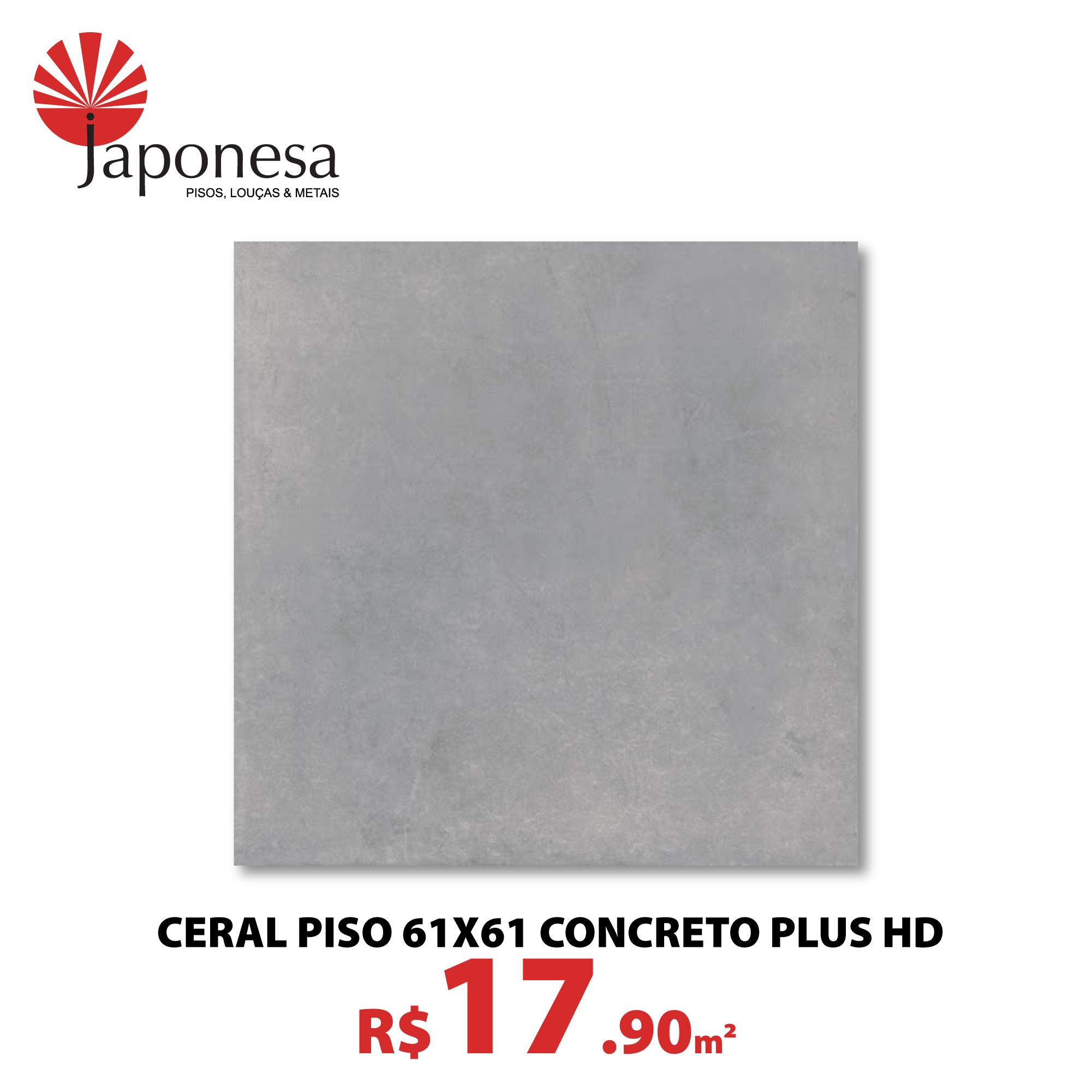 Ceral Piso 61×61 Concreto Plus HD
