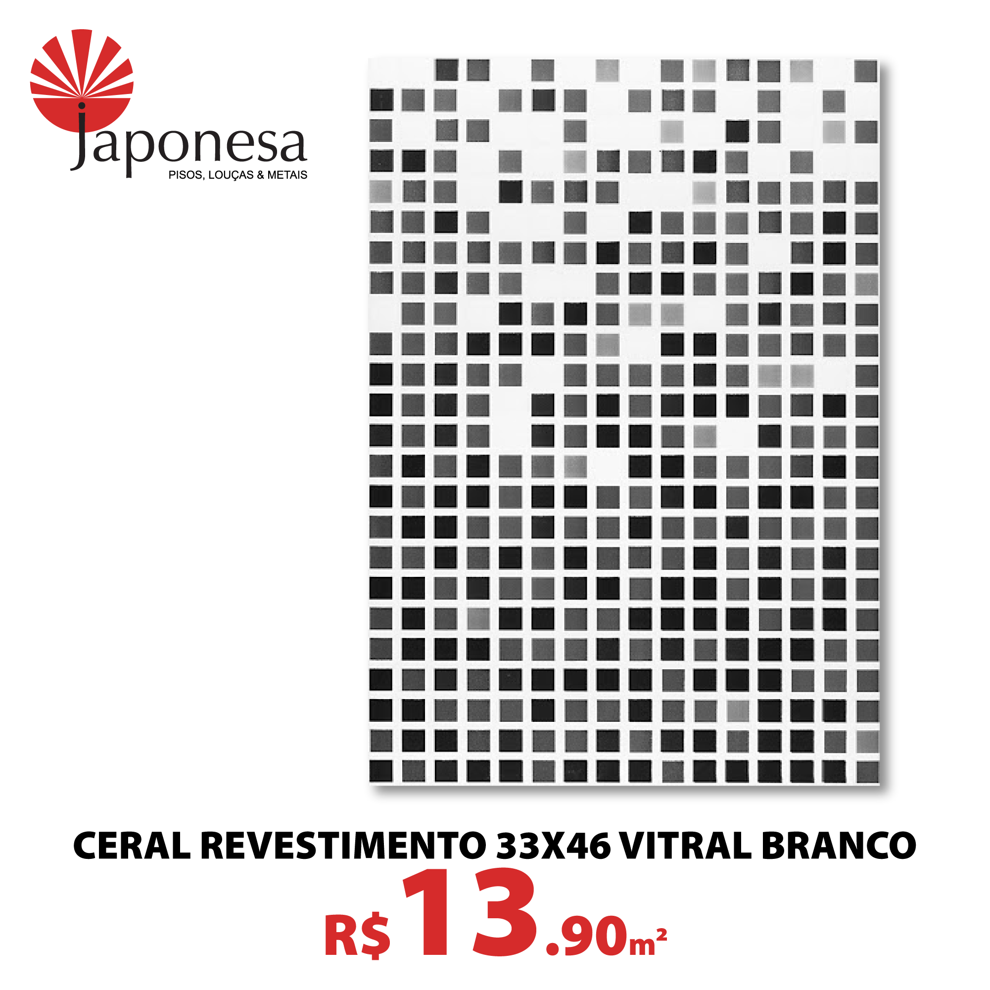 Ceral Revestimento 33×46 Vitral Branco