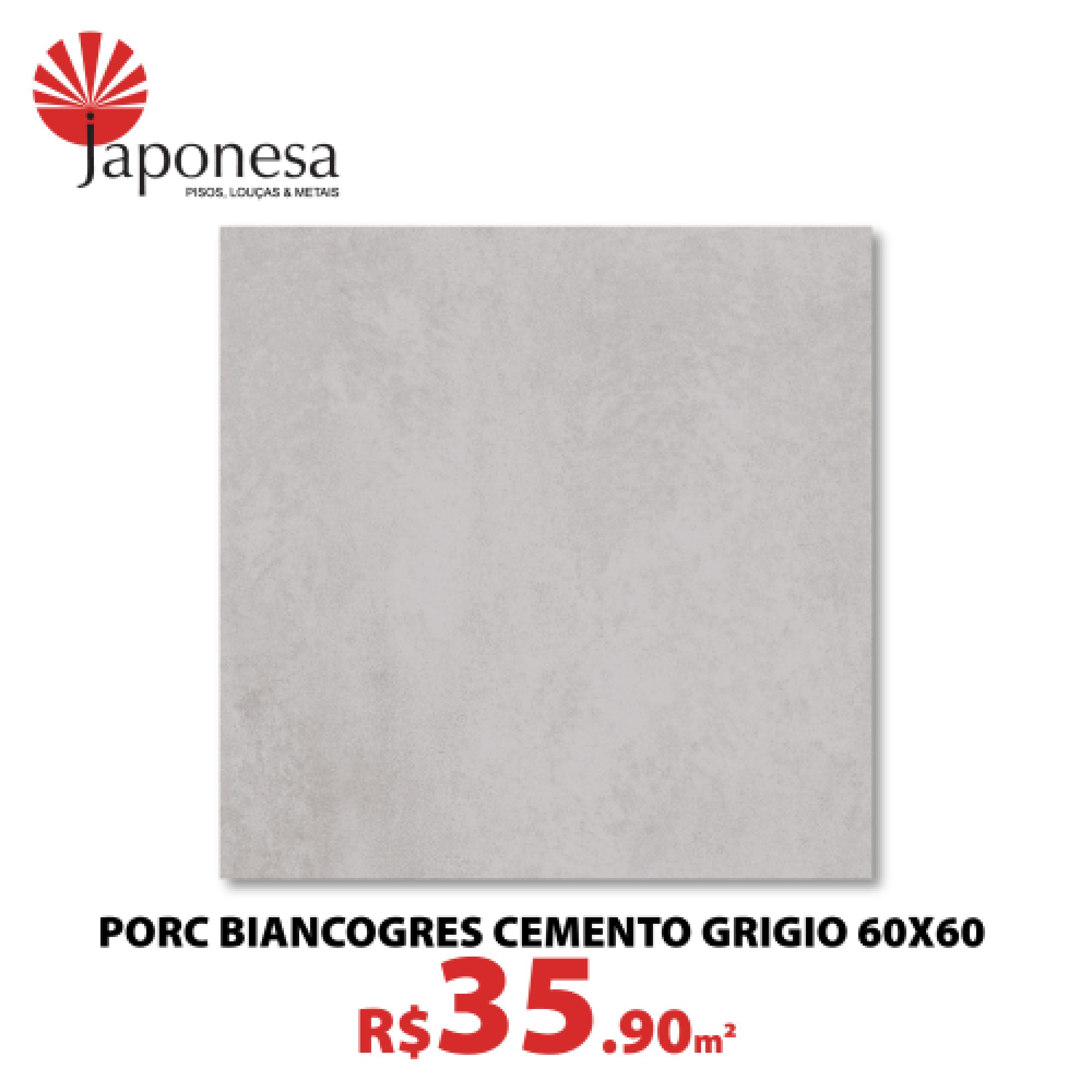 Porc Biancogres Cemento Grigio 60×60
