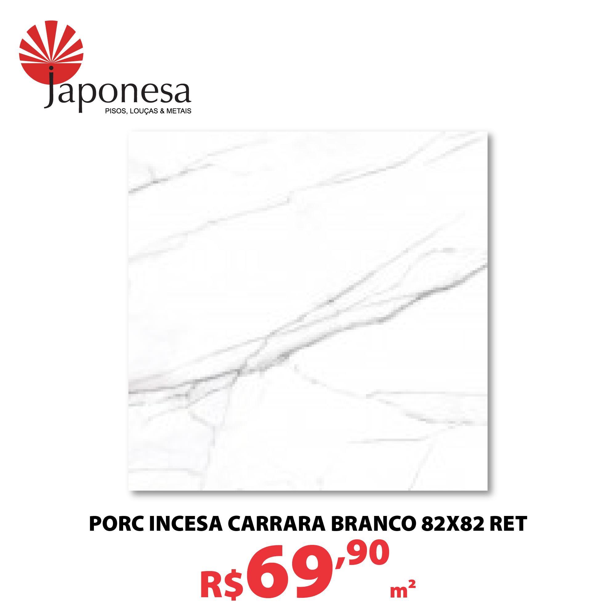 PORC INCESA CARRARA BRANCO 82X82 RET