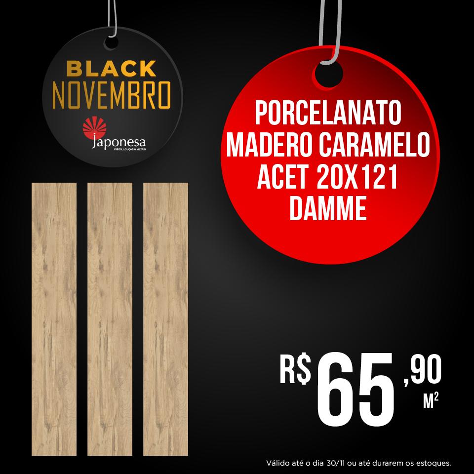 PORCELANATO MADERO CARAMELO ACET 20X121 DAMME