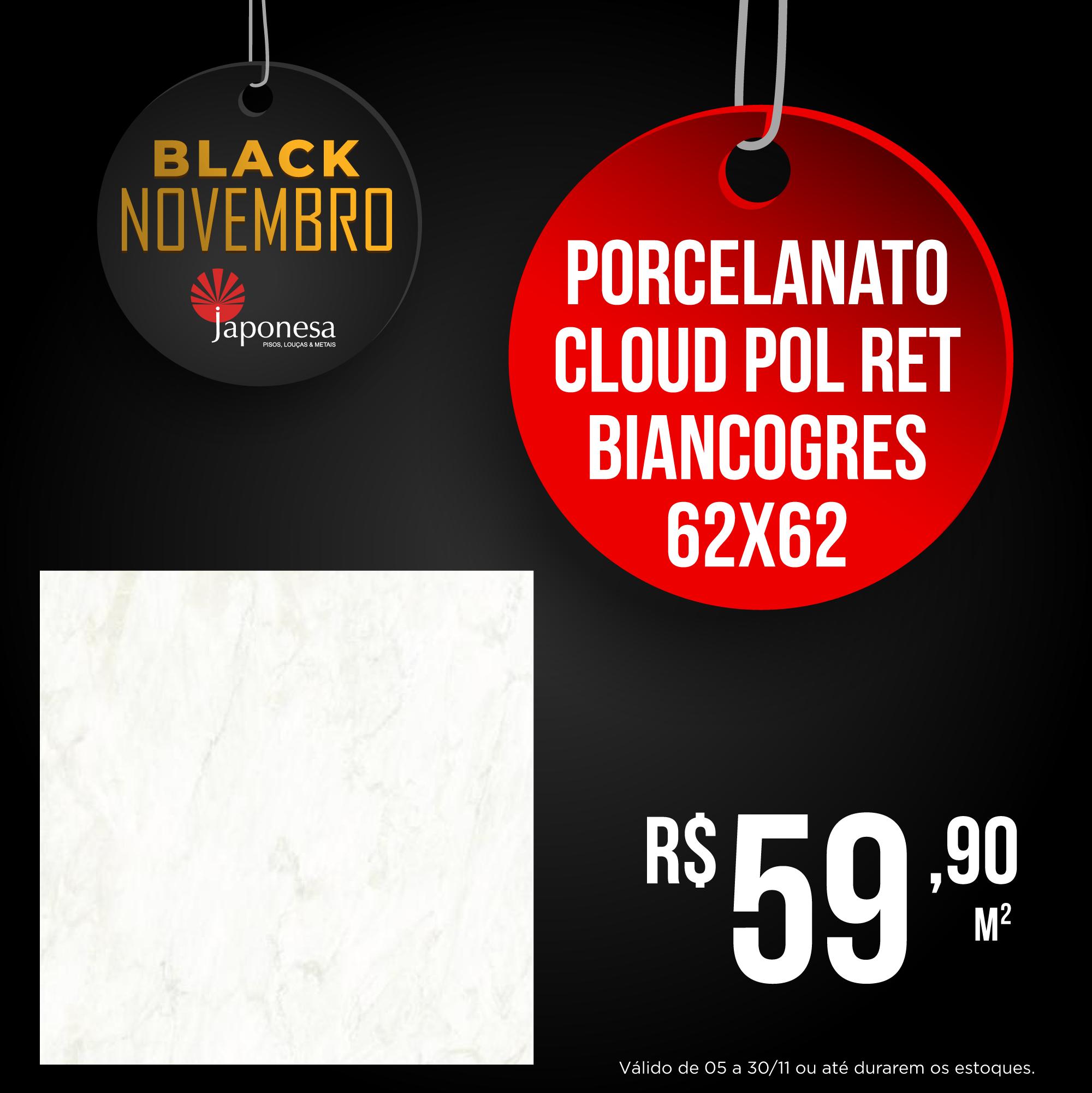 PORCELANATO CLOUD POL RET BIANCOGRES 62X62