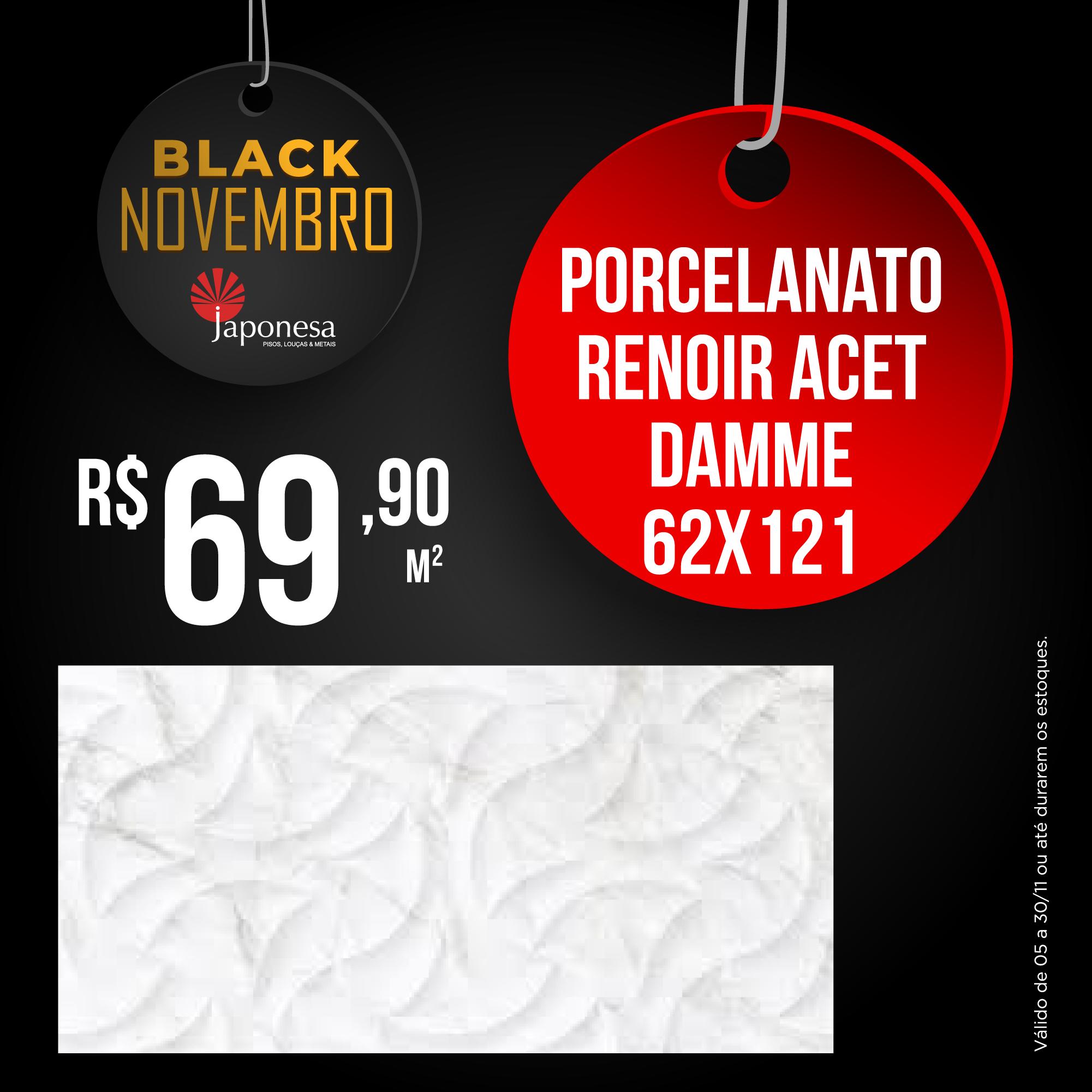 PORCELANATO RENOIR ACET DAMME 62X121