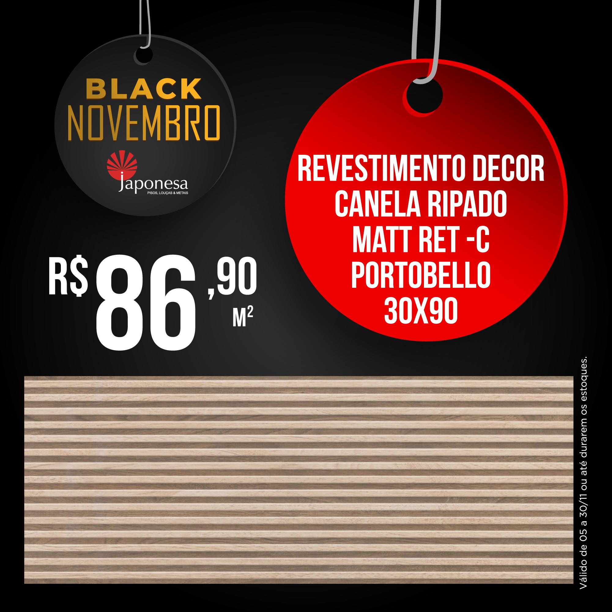 REVESTIMENTO DECOR CANELA RIPADO MATT RET – C PORTOBELLO 30X90
