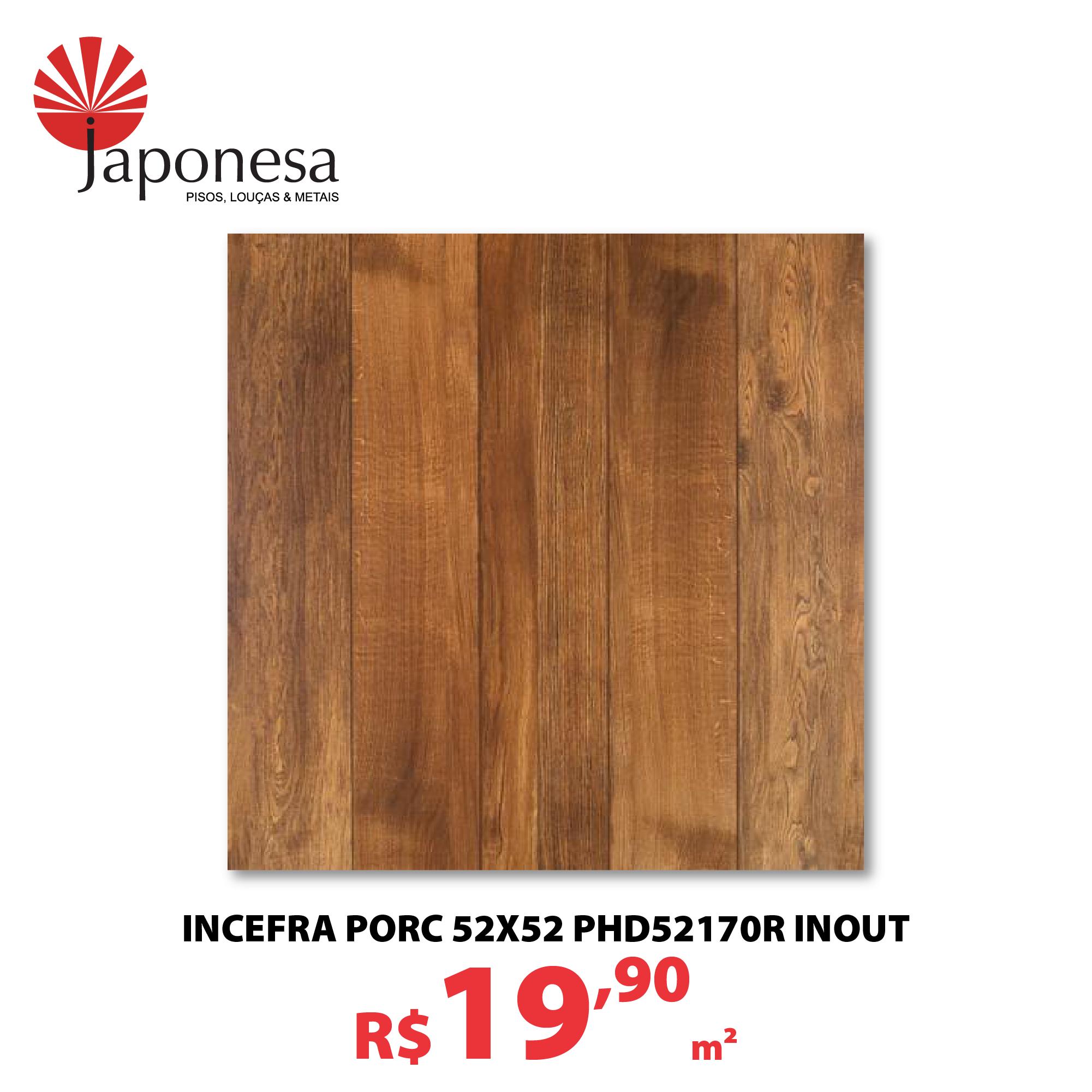 INCEFRA PORC 52X52 PHD52170R INOUT