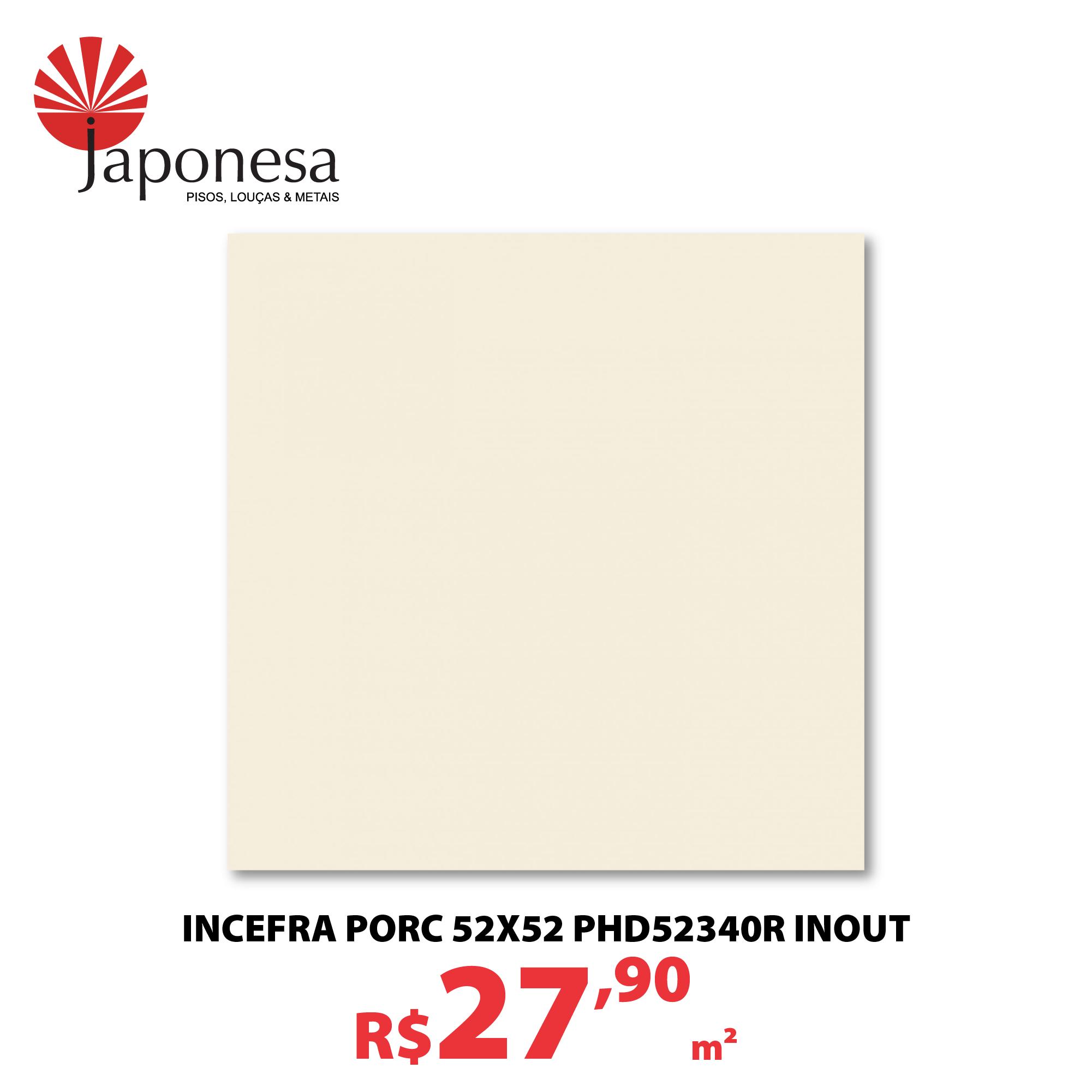 INCEFRA PORC 52X52 PHD52340R INOUT