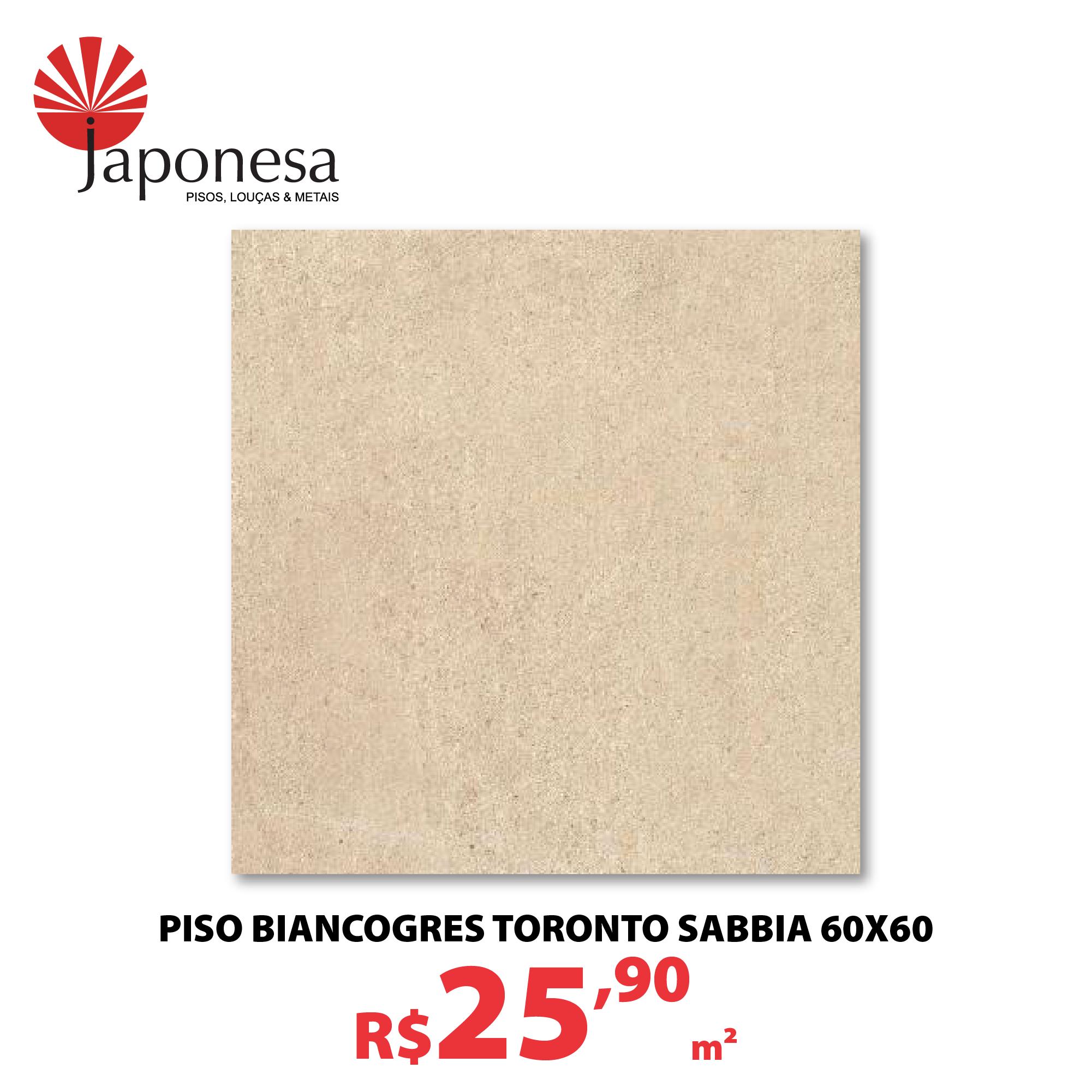 PISO BIANCOGRES TORONTO SABBIA 60X60