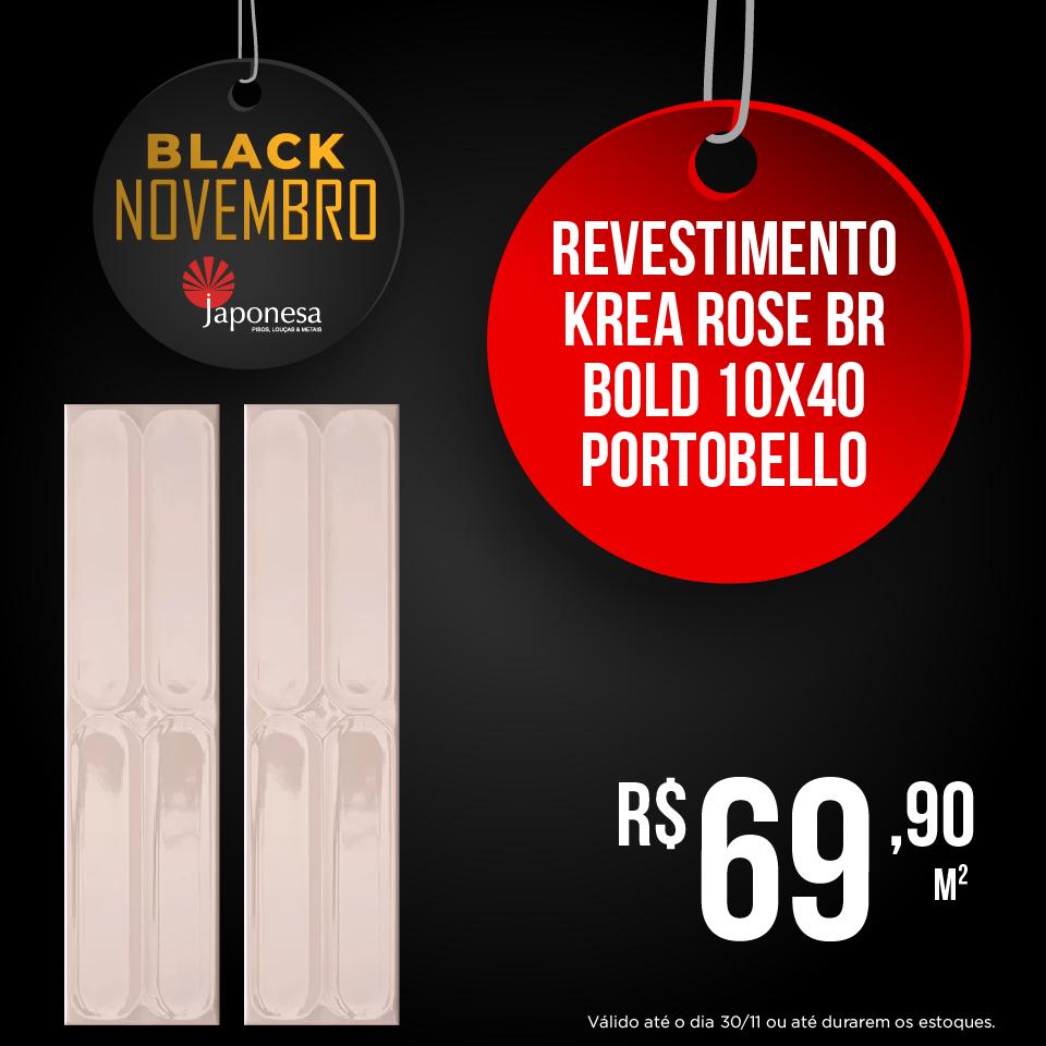 REVESTIMENTO KREA ROSE BR BOLD 10X40 PORTOBELLO