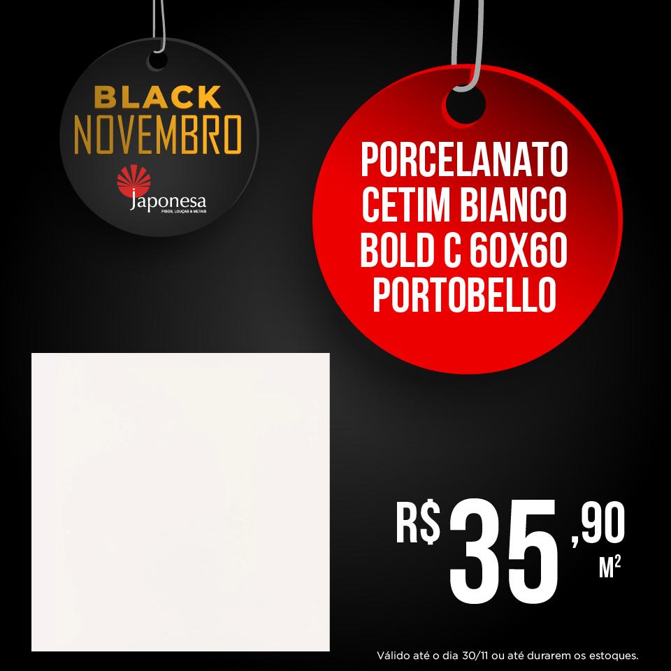 PORCELANATO CETIM BIANCO BOLD C 60X60 PORTOBELLO