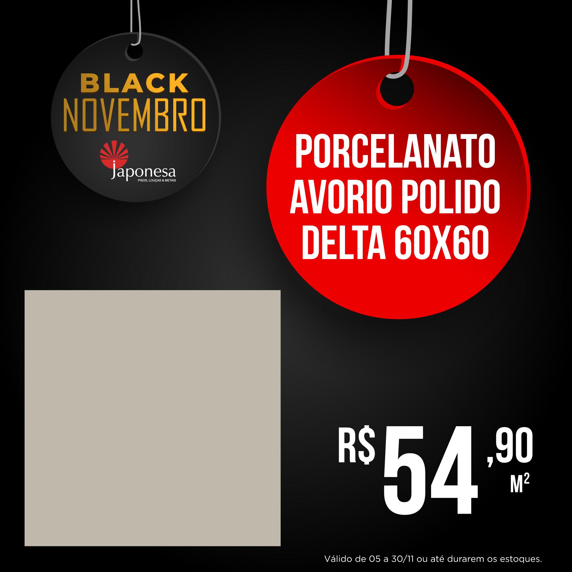 PORCELANATO AVORIO POLIDO DELTA 60X60