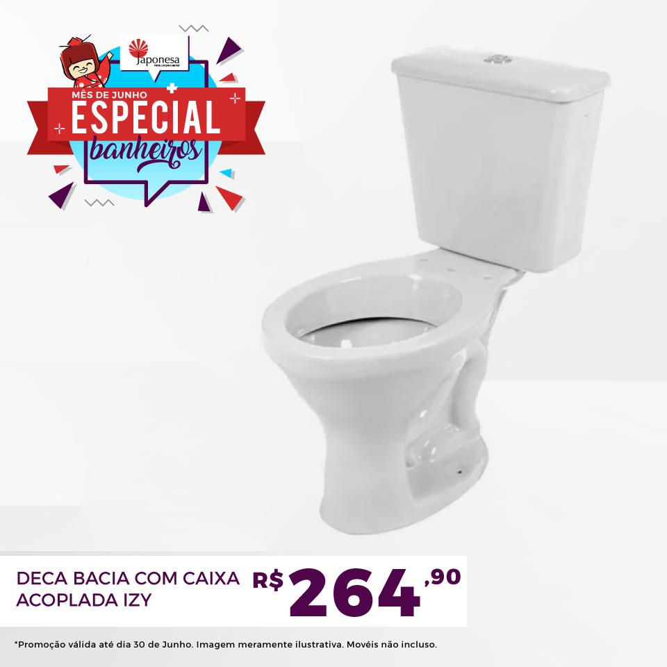 DECA BACIA COM CAIXA ACOPLADA IZY