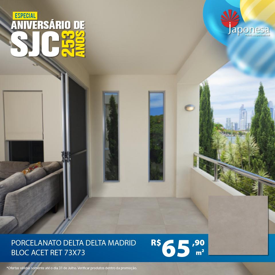 PORCELANATO DELTA MADRID BLOC ACET RET 73X73